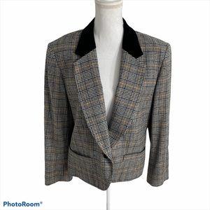 Vintage Pendleton Wool Plaid Houndstooth Blazer 12